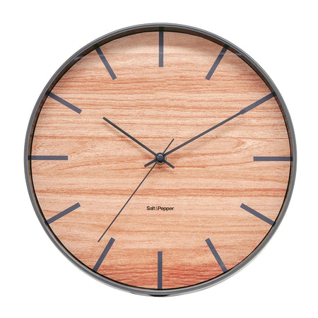 Salt & Pepper Tate Clock Grey 31cm