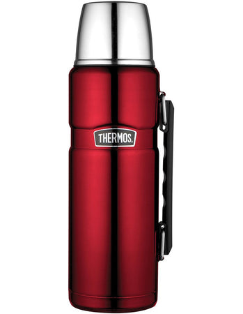 Thermos 1.2L Stainless Steel Vacuum Insulated Flask - Red