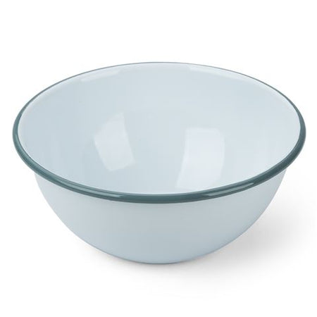 Falcon - Enamel Deep Cereal Bowl - Duck Egg Blue with Grey Rim - 16x5.5cm