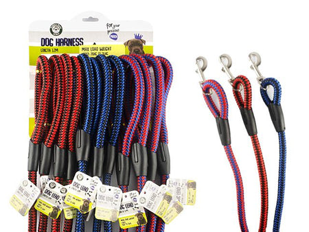 Large Dog Lead - 120x1.5cm - Assorted Colours