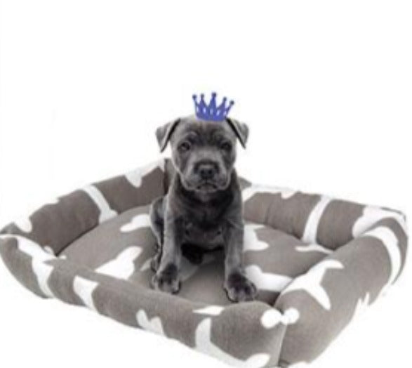 Pet Bed For Dogs or Cats 58x45x10cm - Rectangular - 4 Assorted Designs
