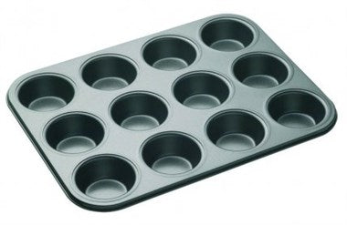 Master Class Non-Stick 12 Hole Deep Baking Pan