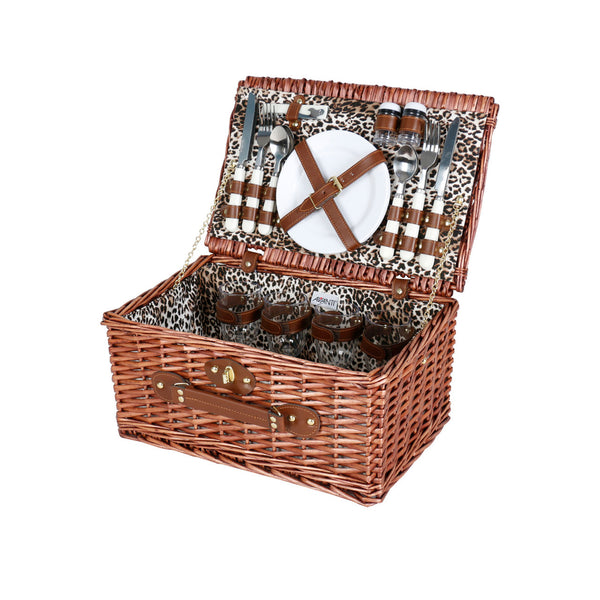 Avanti 4 Person Picnic Basket - Leopard