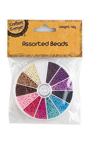 Round Case With Assorted Coloured Beads