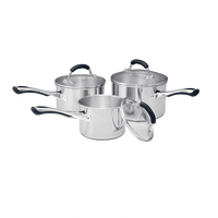RACO Contemporary 3 Piece Cookware Set Stainless Steel