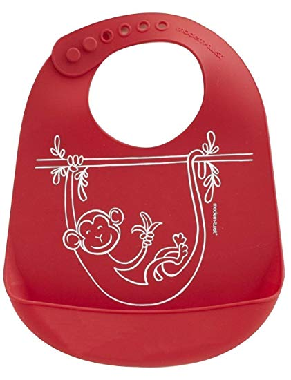 Mini Twist Bucket Bib - Monkey Business Red