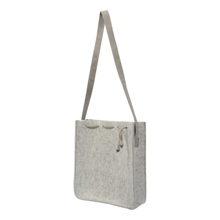 Polar Light Grey Felt Tote Bag