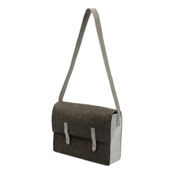 Larkin Dark Grey Felt Shoulder Bag