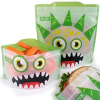 RUSSBE Snack And Sandwich Bags Pack of 4 - Green Monster