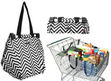 Sachi Shopping Trolley Bag - Chevron Stripe