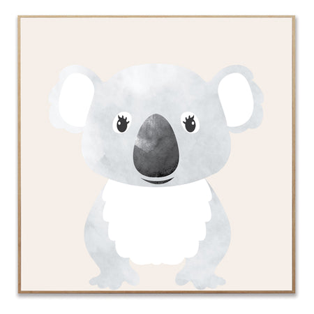 Wall Decoration Framed Canvas - Australian Koala 20x20 inch