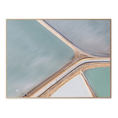 Wall Decoration Framed Canvas - Aerial View - 33x44 inch