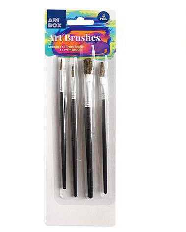 Fine Artist Paint Brushes - Set of 4