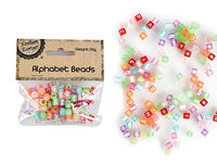 Alphabet Beads - Multi Coloured