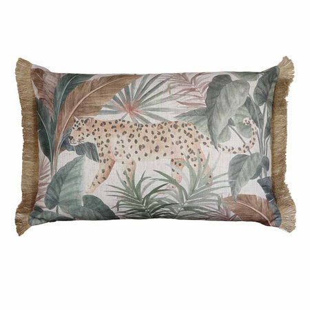 Jungle Leopard Neutral Cushion 50cm
