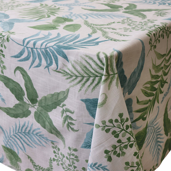 Madras Link Botanica Aqua/Green Tablecloth 150 X 230 cm