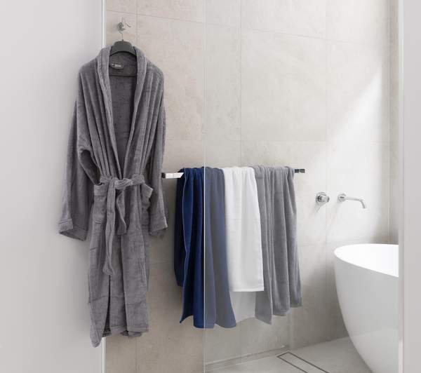 Bamboo Bath Robe - Charcoal  Size 2