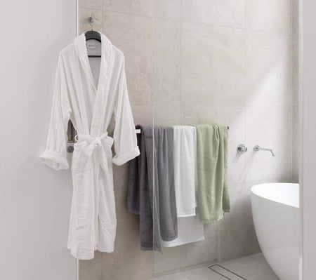 Bamboo Bath Robe - White  Size 2