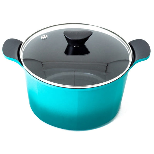 Neoflam Venn Die-Cast Emerald Deep Induction Casserole With Glass Lid - 26cm/6.5Lt