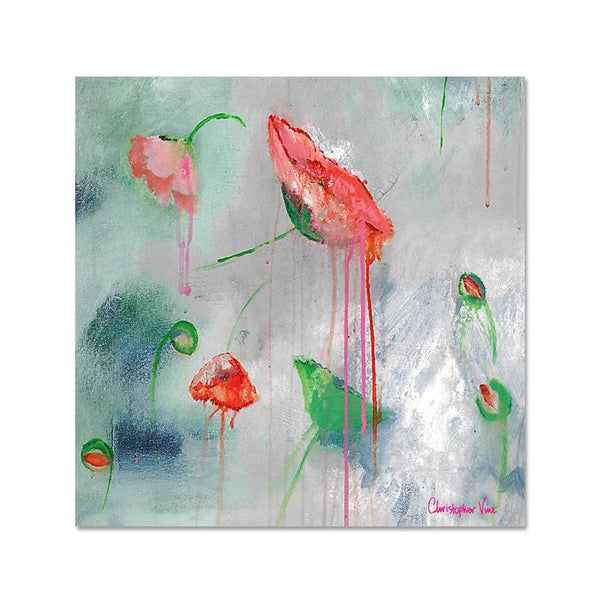 Floating Poppies - Christopher Vine Notecard - 10x10cm
