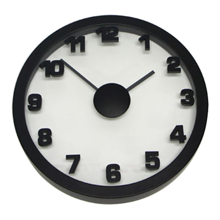 Degree Black Float Wall Clock 50cm