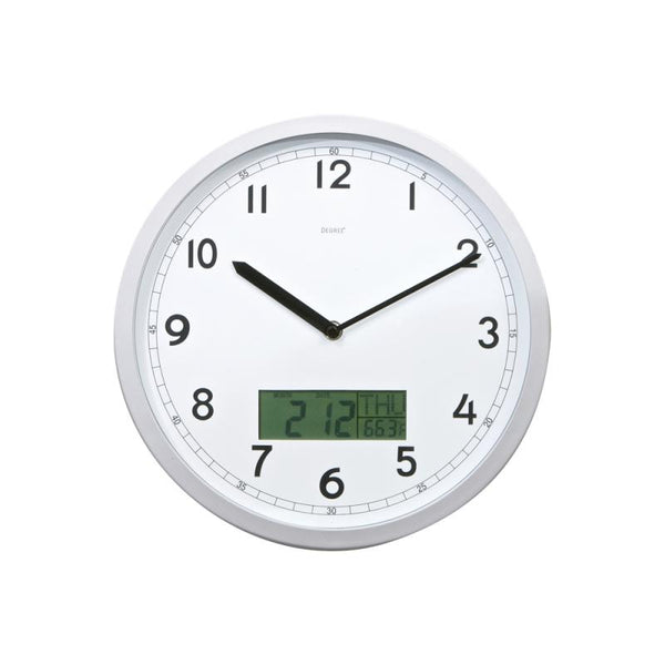 Degree Day, Date & Temperature Wall Clock 30cm
