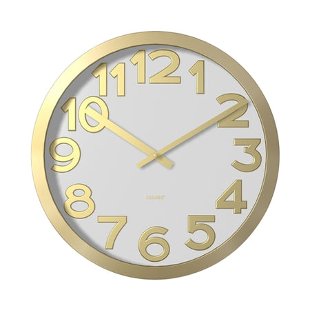Degree Stelton Gold Wall Clock 40cm