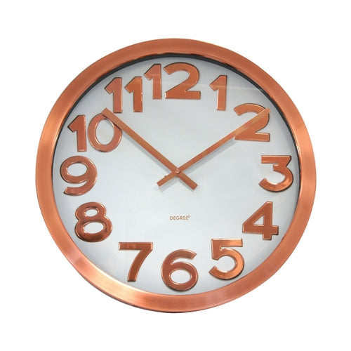 Degree Stelton Copper Wall Clock 40cm