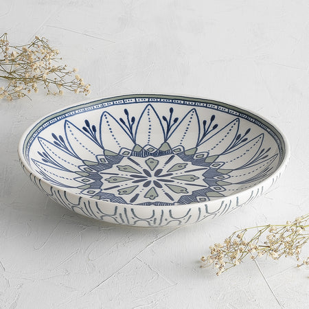 Ecology Oasis Stoneware Medium Shallow Bowl 26x5cm