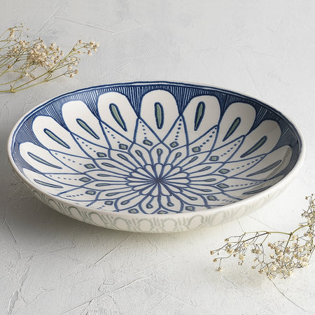 Ecology Oasis Stoneware Large Shallow Bowl 31x5.5cm