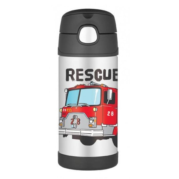 355ml Funtainer Drink Bottle - Firetruck