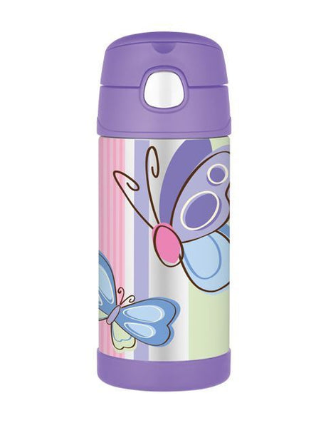 355ml Funtainer Drink Bottle - Butterfly - Purple
