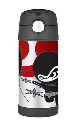 355ml Funtainer Drink Bottle - Ninja