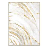 Brush Gold Wall Art - 142x102cm