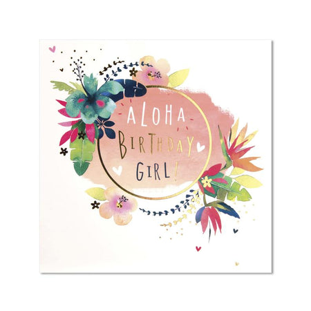 Aloha Birthday Girl Card