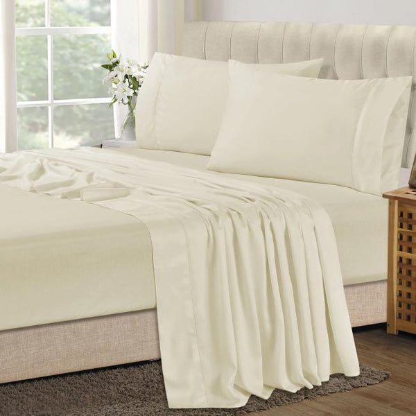 Bamboo Combo Set - King Single Fitted Sheet and One Pillowcase - Linen