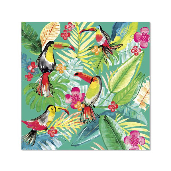 Birds - Green  - Notecard