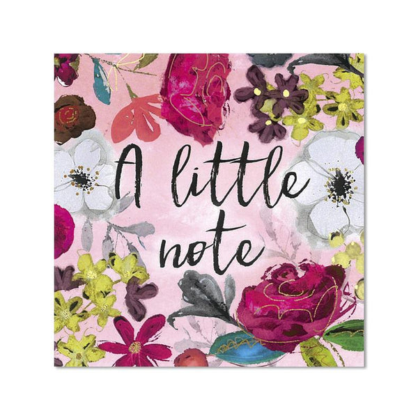 A Little Note - Notecard