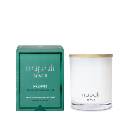 Napali Beach Maldives, Crushed Lemongrass & Lime Candle - Deluxe
