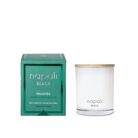 Napali Beach Maldives, Crushed Lemongrass & Lime Candle - Small