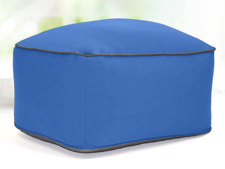 Noomi Outdoor Ottoman - Royal Blue / Full (Cover&Liner&Premium Beads)