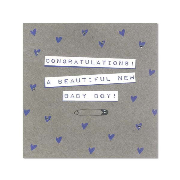 Congratulations! A Beautiful New Baby Boy Card
