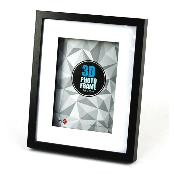 3D Wood Black Frame 13x18cm/5x7""