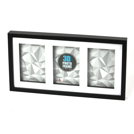 3D Wood Black Frame 3*10x15cm/4x6""