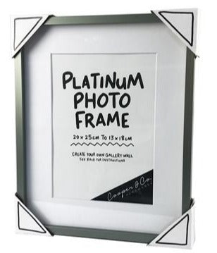 "Cooper & Co Pewter Metal Frame 13X18/20X25cm - 5x7""/8x10"""
