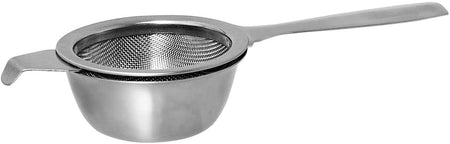 Avanti Stainless Steel Single Handle Tea Strainer With Drip Bowl