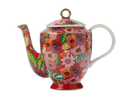 Teas & C's Glastonbury Teapot 1L Poppy