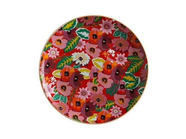 Teas & C's Glastonbury Plate 20cm Poppy Red