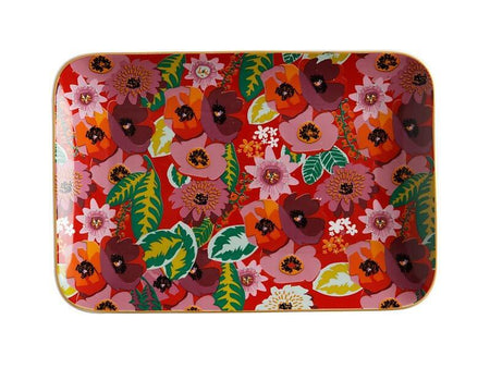 Teas & C's Glastonbury Rectangular Plate 22x15cm Poppy