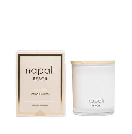 Napali Beach Cancun, Vanilla & Caramel Candle - Deluxe